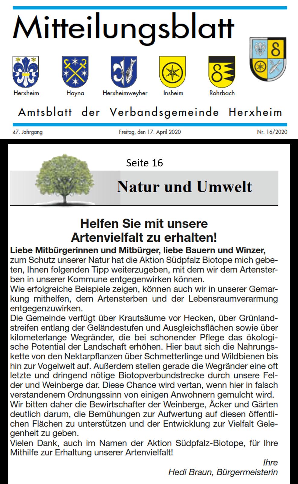 Amtsböatt Herxheim